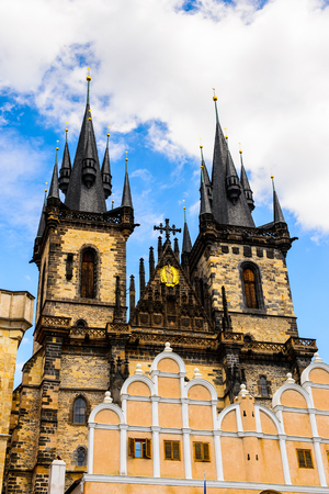 Architecture of Prague, Czech Republic. Prague in the capital of Czech Republic and a popular touristic destination.