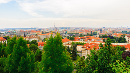 Saturated landscape of Prague (Praha), capital of the Czech Republic. Stock Photo