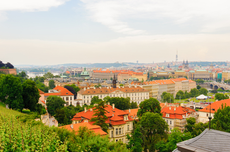 Prague, the capital of the Czech Republic. View from the Old town of Prague. 報道画像