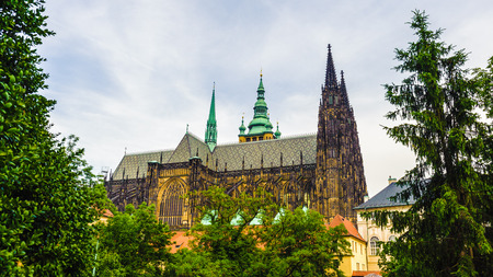 Prague Castle,  a castle in Prague where the Kings of Bohemia, Holy Roman Emperors and presidents of Czechoslovakia and the Czech Republic have had their offices. Editorial