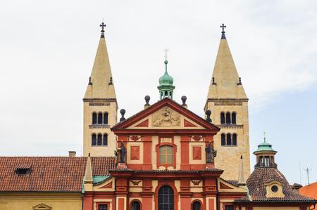 St. Georges Basilica, is the oldest surviving church building within Prague Castle, Prague, Czech Republic. Editorial