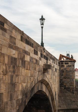 Lamp post on the Charles bridge, Prague