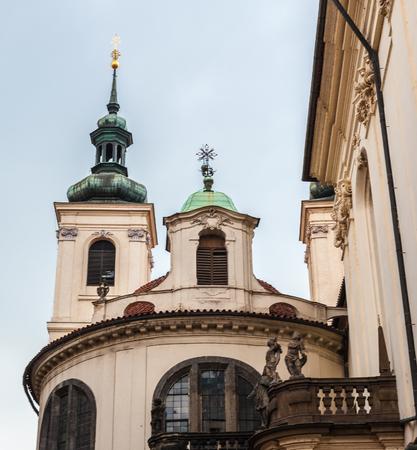 Architecture of the historic center of Prague, Czeh Republic 스톡 콘텐츠