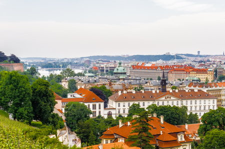 Prague, the capital of the Czech Republic. View from the Old town of Prague. Standard-Bild