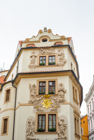 Architecture of the historic center of Prague, Czeh Republic 新聞圖片