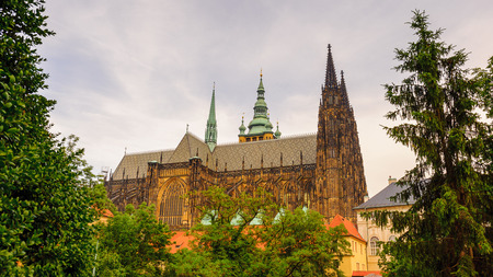 Prague Castle,  a castle in Prague where the Kings of Bohemia, Holy Roman Emperors and presidents of Czechoslovakia and the Czech Republic have had their offices. 新聞圖片