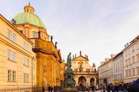 Stare mesto, Old town of Prague, Czech Republic 에디토리얼