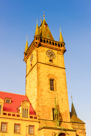 Astonimic Clock Tower, Staromestske square in the Old town of Prague in the Czech Republic