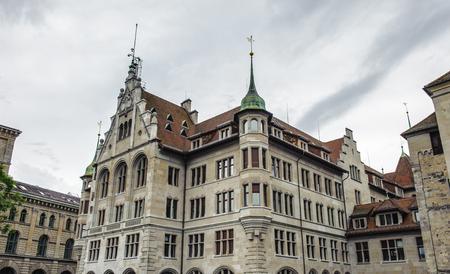 Architecture of Zurich, Switzerland 스톡 콘텐츠