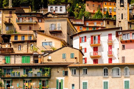 Gandria, a village, on the northern shore of Lake Lugano, which forms the core of that quarter. Banco de Imagens