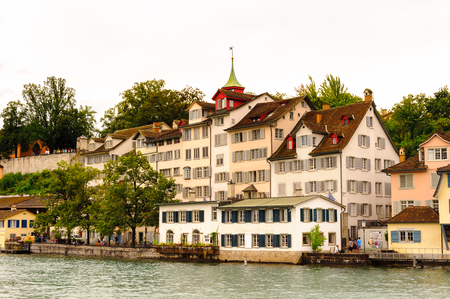 Munsterhof, a town square situated in the Lindenhof quarter, the historical center of Zürich, Switzerland.