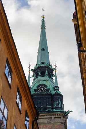 Architecture of the old town of Stockholm, Sweden Stock Photo