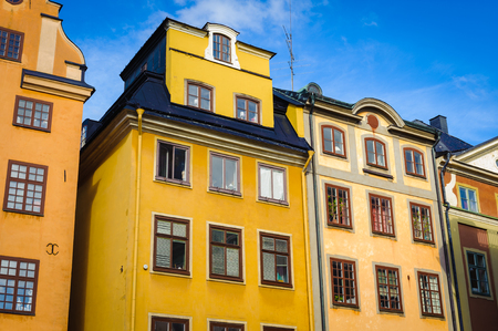 Architecture of the old town of Sweden