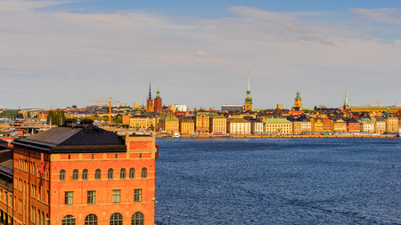 Old town of Stockholm, panorama, Sweden Stock Photo