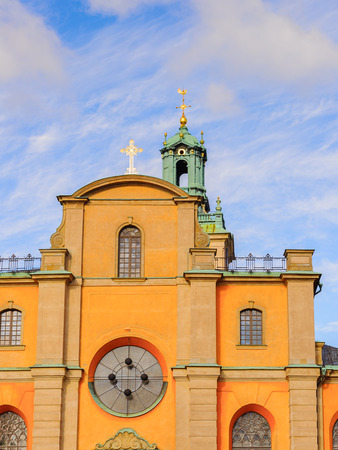Stockholm Cathedral, Sweden, the oldest church in Gamla Stan, the old town in central Stockholm, Sweden.