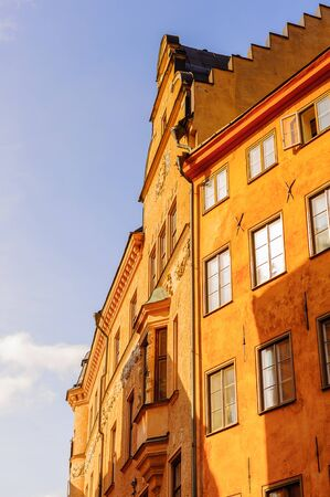 Building of the Old town of Stockholm, Sweden Stock Photo