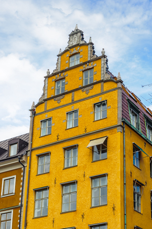 Colorful architecture of the capital of Sweden, Stockholm