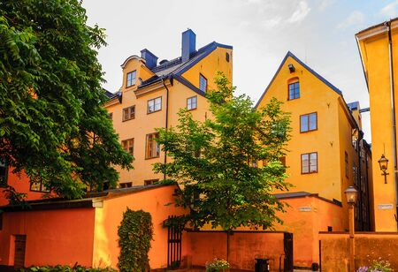 Old architecture of Stockholm, old town, Sweden