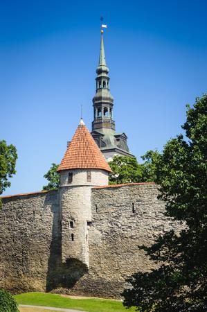 Old town of Tallinn, Estonia 스톡 콘텐츠