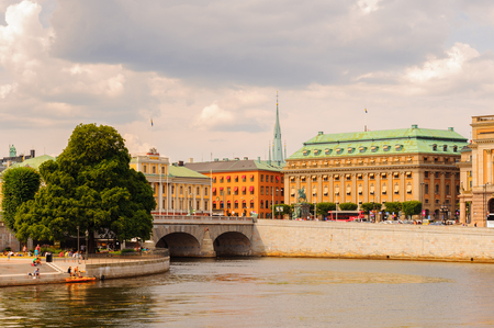 Architecture of the old town of Stockholm, Sweden Editorial