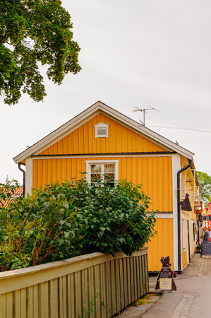 Small house in Sweden Stock Photo