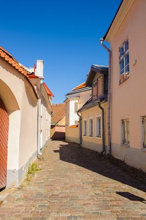 Modern building in Old town of Tallinn, Estonia Stock Photo