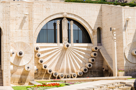 Yerevan Cascade, a giant stairway in Yerevan, Armenia. One of the most important sights in Yerevan completed in 1980