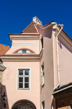Estonian Tallinn old town architecture Stock Photo