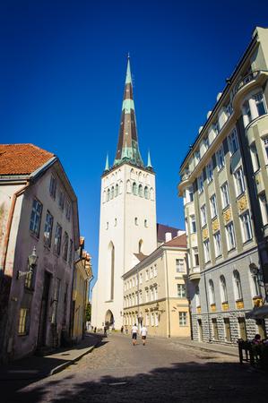St. Olaf's Church or St. Olav's Church, Tallinn, Estonia, built in the 12th century