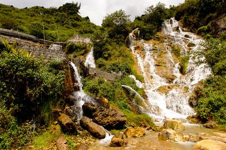 Water fall in Vietnam Stock Photo