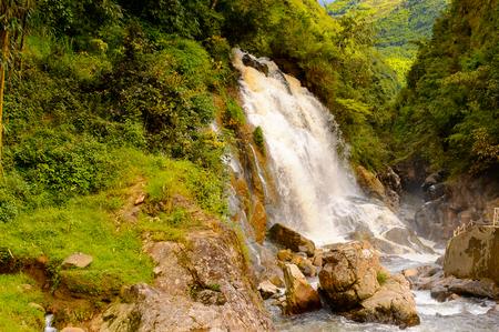 Waterfall in a village of Catcat, Vietnam