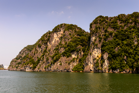 Ha Long bay islands in the Indochina sea. UNESCO World Heritage site Stock Photo