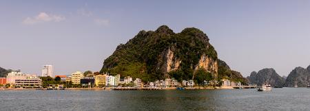 Ha Long bay islands in the Indochina sea. 스톡 콘텐츠
