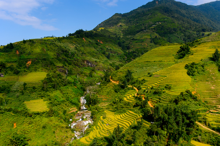 Nature landscape and rice terrace of Northern Vietnam