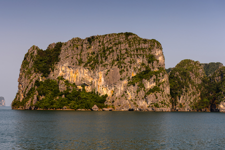 Nature and rocks of the Halong Bay, Indochina sea, Vietnam.