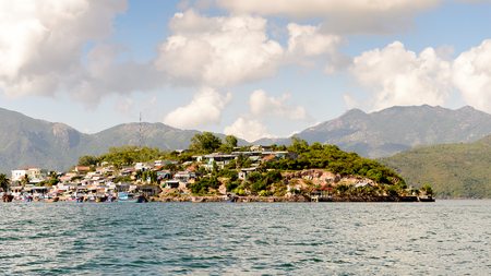 One of the islands near Nha Trang in the South China Sea in Vietnam 스톡 콘텐츠