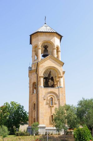 Bell tower of the Holy Trinity Cathedral of Tbilisi, the main Cathedral of the Georgian Orthodox Church