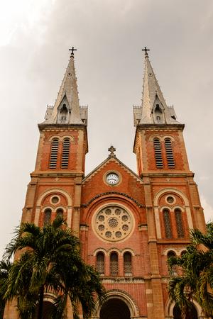 Saigon Notre Dame Basilica (Basilica of Our Lady of The Immaculate Conception) in Hochiminh (Saigon).