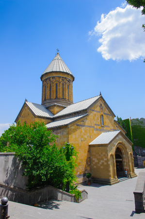 Orthodox Church in the Old Town of Tbilisi, Georgia Stock Photo
