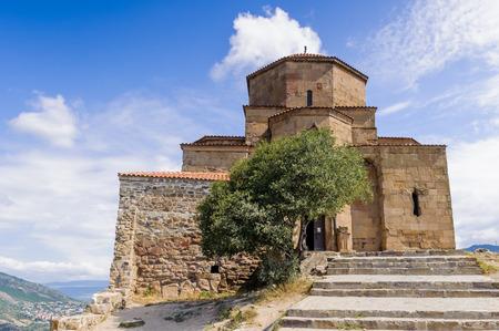 Old Jvari Monastery, Georgian Orthodox monastery of the 6th century on the mountain hill ove the old town of Mtskheta
