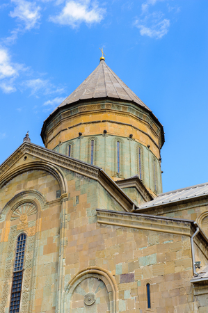 Svetitskhoveli Cathedral (Living Pillar Cathedral), a Georgian Orthodox cathedral located in the historical town of Mtskheta, Georgia. UNESCO World Heritage