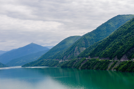 Beautiful river in the Caucasus mountains