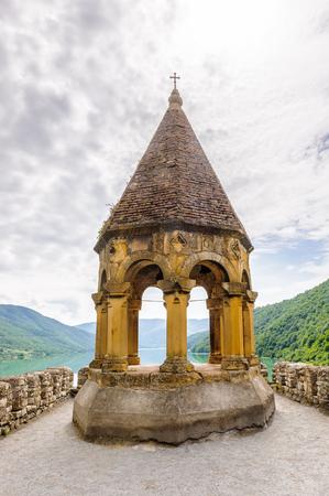 Ananuri Castle, a castle complex on the Aragvi River in Georgia. UNESCO World heritage Editorial