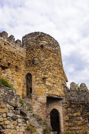 Part of the Ananuri Castle, a castle complex on the Aragvi River in Georgia