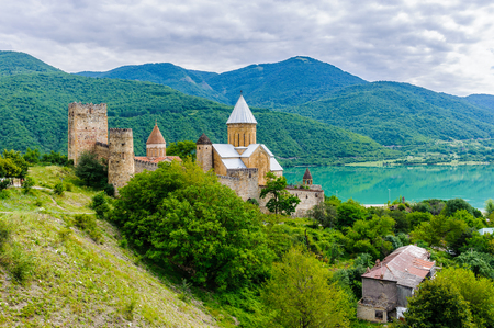 Ananuri Castle, a castle complex on the Aragvi River in Georgia
