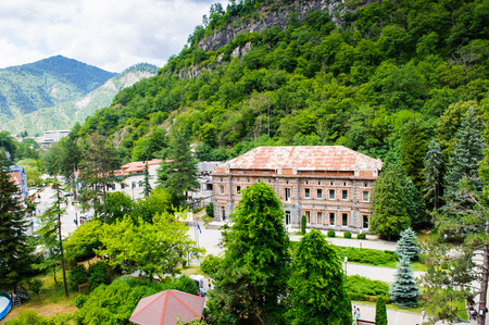 Architecture in the national park of a Borjomi, resort town in Georgia. Stock Photo