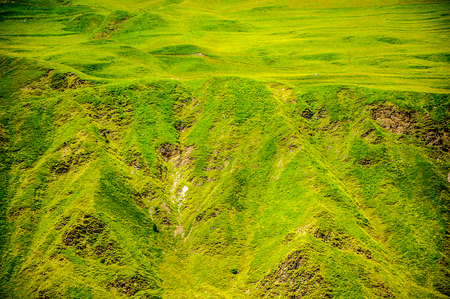 Close view of the beautiful green mountains Stock Photo