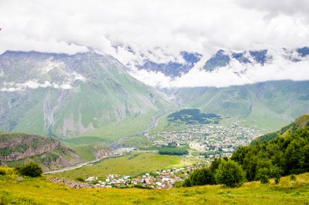 Houses among the mountains