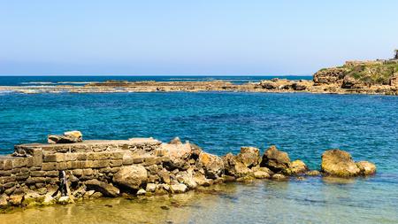 Stones and ruins of Caesarea Maritima, Israel