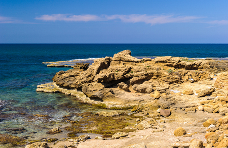 CaesareacMaritima coast, Mediterranean sea, Israel